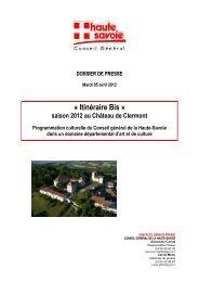 « Itinéraire Bis » - Conseil Général de Haute-Savoie