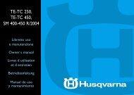 TE-TC 250, TE-TC 450, SM 400-450 R/2004 - Husqvarna