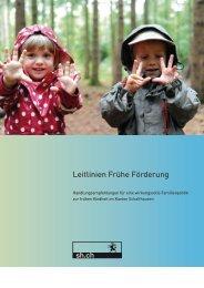 Leitlinien Frühe Förderung - EJPD - admin.ch
