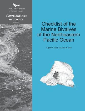 NEP bivalve checklist 1998.indd - Santa Barbara Museum of Natural ...