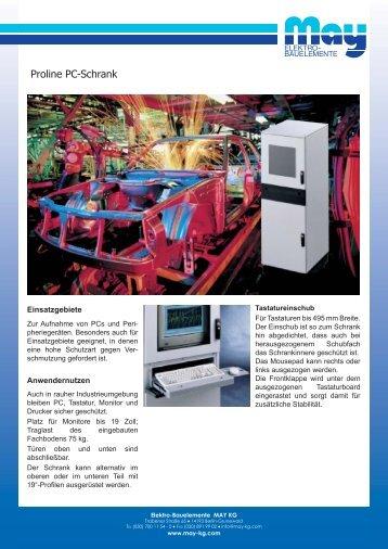 Proline PC-Schrank - May KG