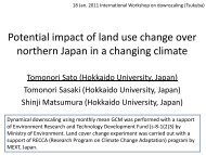 Potential impact of land use change over northern Japan in a ...