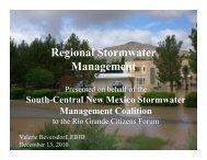 Regional Stormwater Management - US International Boundary ...