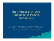 The Impact of ATOVS Radiance in MERRA Reanalysis