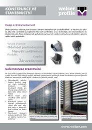 Odvětví Konstrukce ve stavebnictvíPDF, 791,36 kB - Welser Profile AG