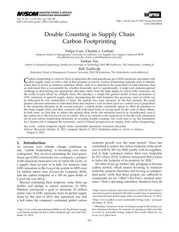 Double-Counting in Supply Chain Carbon Footprinting