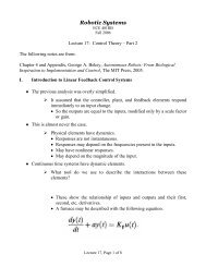 Lecture 17 - Control Theory, Part 2