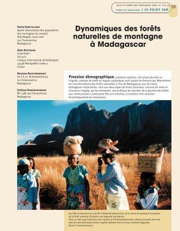Dynamiques des forêts naturelles de montagne à Madagascar