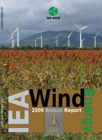 E n erg yEnergy 2009 Annual Report Wind IEA