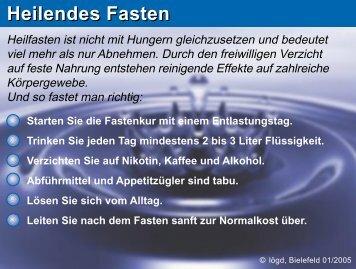Heilendes Fasten - Gesundheit.nrw