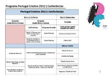 Programa Portugal Criativo 2012 | Conferências