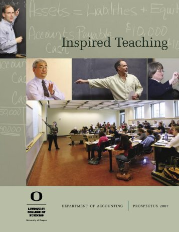 UO Prospectus 2007.indd - Lundquist College of Business ...