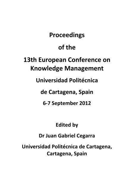 Awe Inspiring Proceedings Of The 13Th European Conference On Knowledge Creativecarmelina Interior Chair Design Creativecarmelinacom