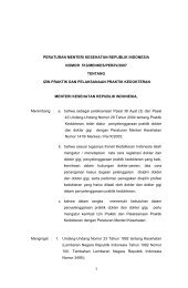 PMK 512-2007 Izin Paktek dan Pelaksanaan Praktik Kedokteran