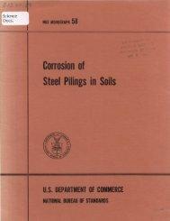 Corrosion of Steel Pilings in Soils