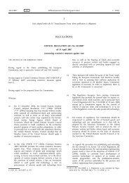 (EC) No 423/2007 - Trade Websites - Europa