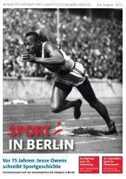 SPORT IN BERLIN Vor 75 Jahren - Landessportbund Berlin