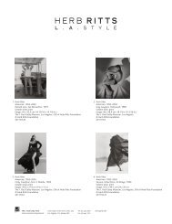 Herb Ritts: L.A. Style (Available Images) - News from the Getty