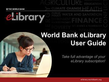 About the World Bank eLibrary
