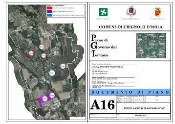 A16_Schede Ambiti Trasformazione - Comune di Chignolo d'Isola