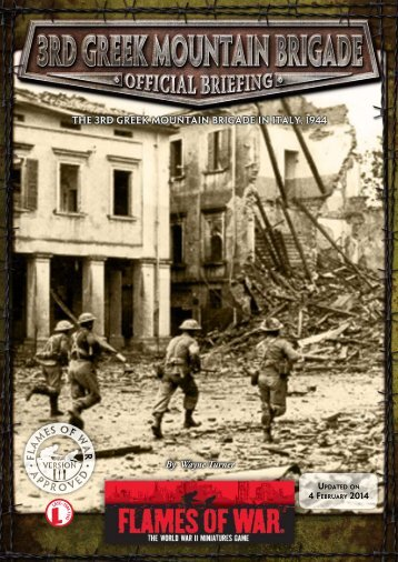 Greek Mountain Infantry Company 1944 (PDF)... - Flames of War
