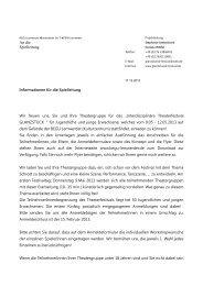 An die Spielleitung - Hochschule für Künste im Sozialen, Ottersberg