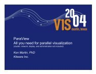 ParaView All you need for parallel visualization