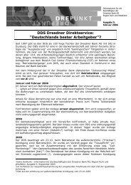 Informationen für die Beschäftigten der Dresdner Bank