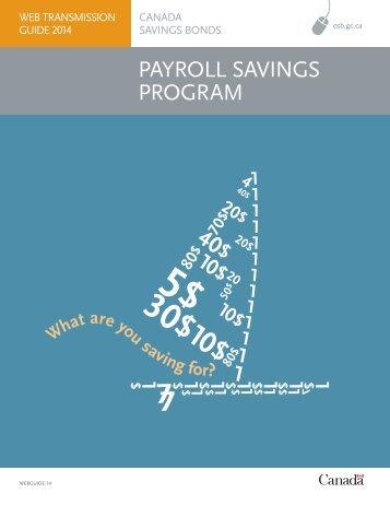 Web Transmission Guide - Canada Savings Bonds