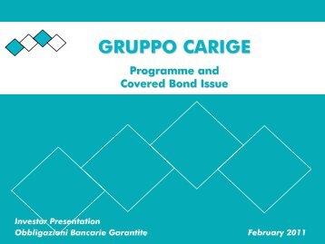 February 2011 - Gruppo Banca Carige
