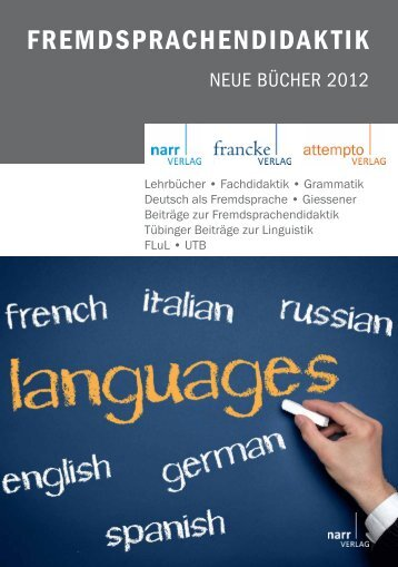 cover flyer_fremdsd - Gunter Narr Verlag/A. Francke Verlag/Attempto ...