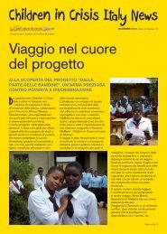 Newsletter Dicembre 2010 - Children in Crisis