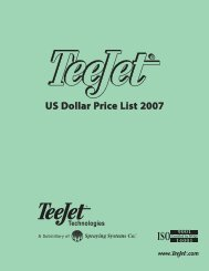 US Dollar Price List 2007 - TeeJet