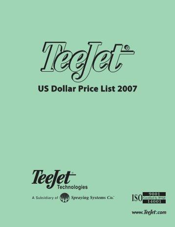 US Dollar Price List 2007 - TeeJet
