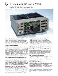 Elecraft K3 AF Amplifier Output Modification
