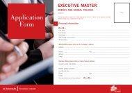 Executive education application form - Sciences Po