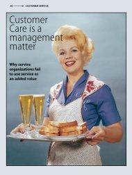 Customer Care is a management matter - PIDAS