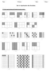 lire et représenter des fractions