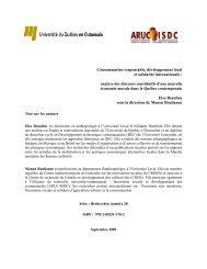 Consommation responsable, développement local et ... - UQO