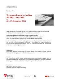 Thermische Energie im Hochbau SIA 380/1 , Ausg. 2009 08. /15 ...