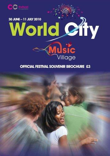 OFFICIAL FESTIVAL SOUVENIR BROCHURE £3 - Cultural Co ...