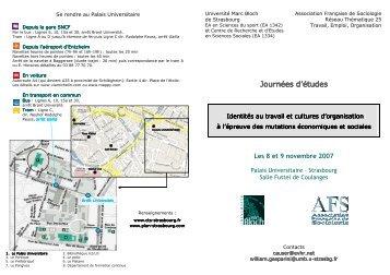 Plaquette _n°1_ JE Strasbourg - La Faculté des Sciences Sociales ...