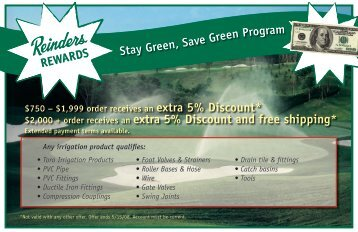 2000 + order receives an extra 5% Discount and ... - Reinders.com