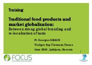 Traditional food products and market globalisation - Focus-Balkans