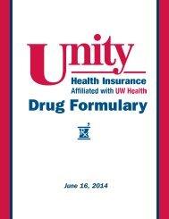 Drug Formulary - Unity Health Insurance