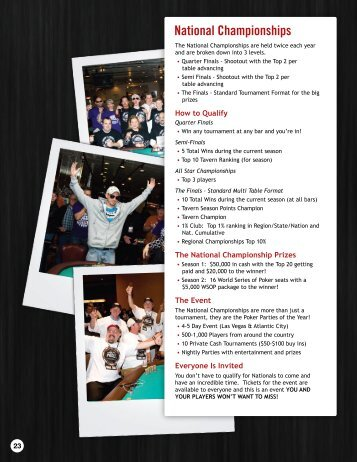 Tournament Director Guide - Part 2 - World Tavern Poker