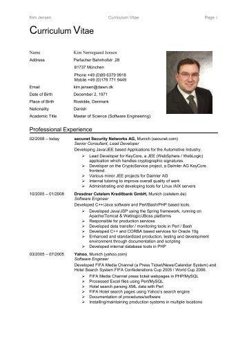 CV, Kim Jensen