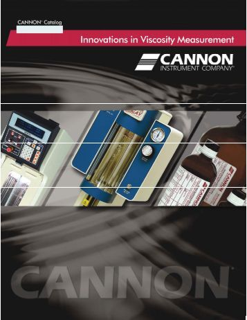 Viscosity for Cannon instrument company
