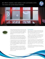Big Print creates a big impact for customers with the new HP Scitex ...