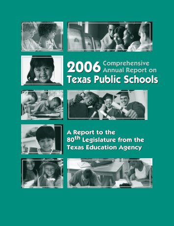 2006 Comprehensive Annual Report on Texas Public Schools
